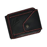 """Затискач грошей """"Miroha"""", чоловічий, чорний, червона нитка, шт. (арт. 021), фото 1"""