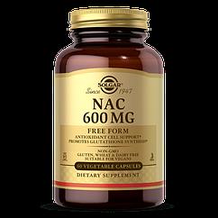 NAC (N-Ацетил-L-Цистеин) , Solgar, 600 мг, 60 вегетарианских капсул