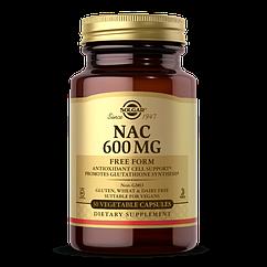 NAC (N-Ацетил-L-Цистеин) , Solgar, 600 мг, 30 вегетарианских капсул