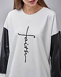 Блузка цветная с кожаными вставками. Турция, фото 3