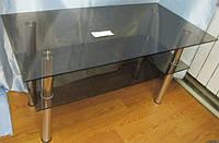 Тонированный журнальный стол из стекла