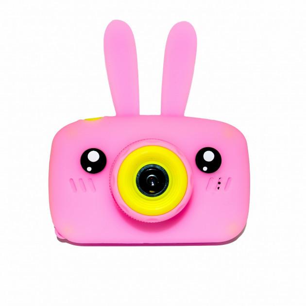 Детский цифровой фотоаппарат Розовый Зайчик 2 Камеры Оригинал Children`s fun 20Мп Full HD 1080p (PY)