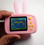 Детский цифровой фотоаппарат Розовый Зайчик 2 Камеры Оригинал Children`s fun 20Мп Full HD 1080p (PY), фото 4