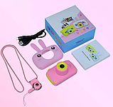 Детский цифровой фотоаппарат Розовый Зайчик 2 Камеры Оригинал Children`s fun 20Мп Full HD 1080p (PY), фото 6