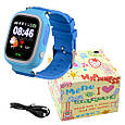 Smart часы детские с GPS Q90, Blue, фото 4