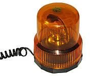 Мигалка круглая TR 503-3 12V (H1/55W) желтая (на саморезах)