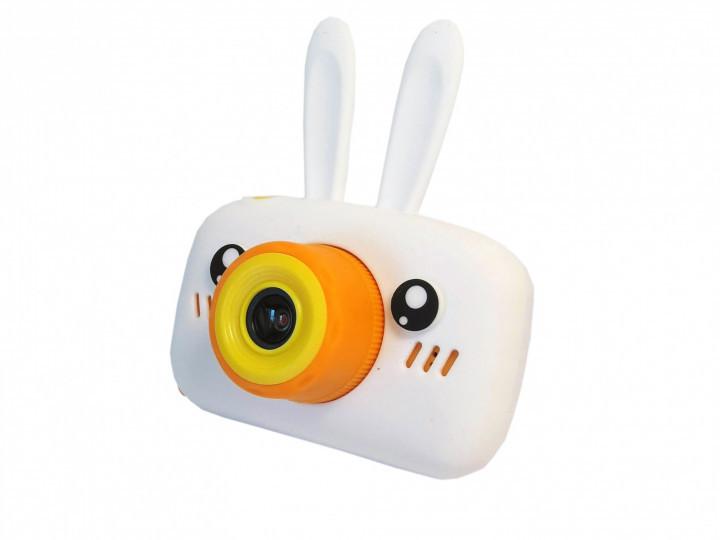Детский цифровой фотоаппарат  Белый Зайчик 2 Камеры Оригинал Children`s fun 20Мп FULL HD 1080P (WY)