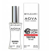 Тестер Premium Class Bvlgari Aqva Pour Homme мужской, 60 мл