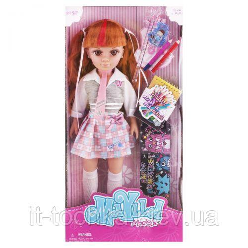 Кукла maylla школьница со школьными принадлежностями