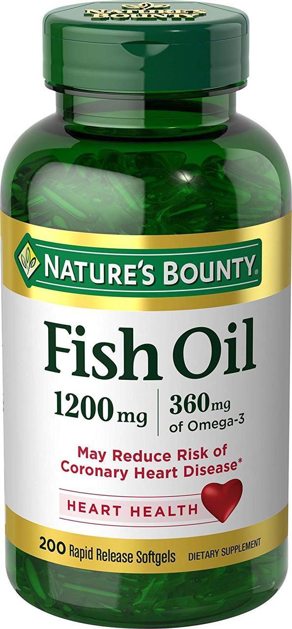 Риб'ячий жир nature's Bounty 1200мг, 120 капсул