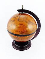 Глобус бар настольный 360 мм коричневый деревянный 480041