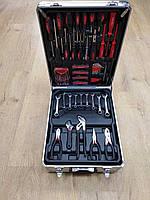 Набор головок ключей инструментов в чемодане al-fa 186 шт