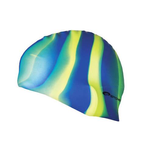 Шапочка для плавания Spokey Abstract 85373 (original) для бассейна, силикон, фото 2
