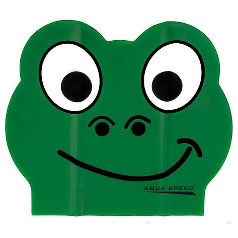 Шапочка для плавания детская Aqua Speed Zoo Latex 5712 (original) для бассейна, латекс, фото 2