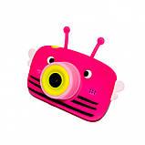 Детский цифровой фотоаппарат Розовая Пчелка Children`s fun Original  20Мп Full HD 1080p (PY), фото 2