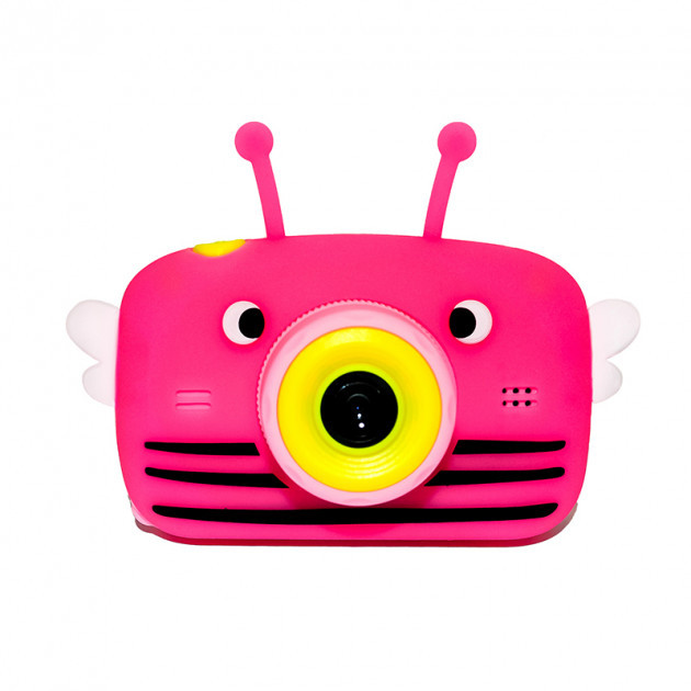 Детский цифровой фотоаппарат Розовая Пчелка Children`s fun Original  20Мп Full HD 1080p (PY)