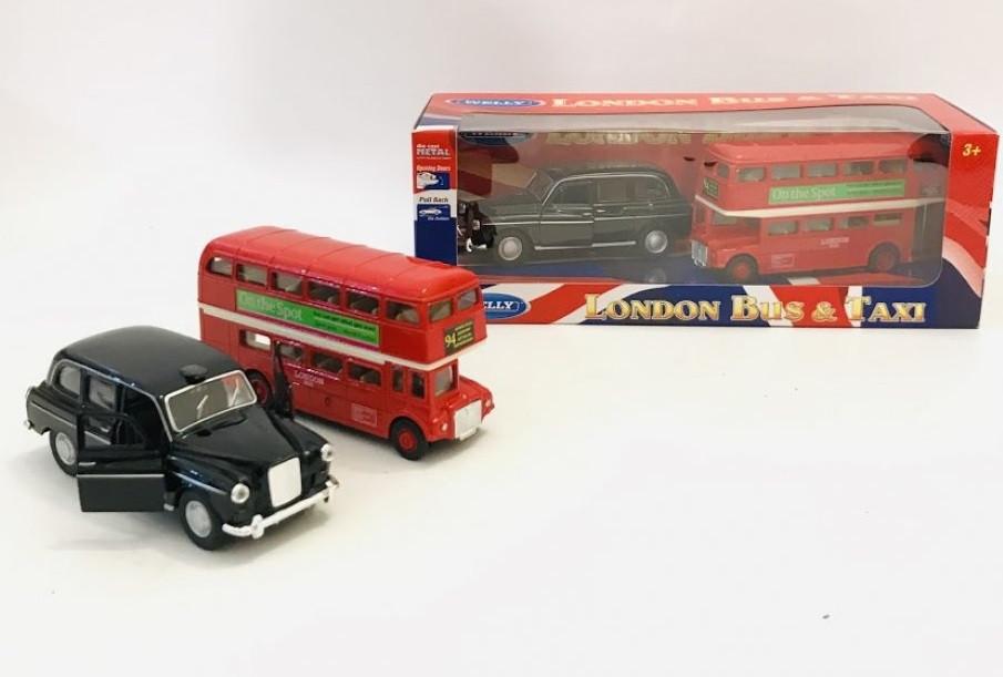 Набор транспорта Welly автобус и лондонское такси