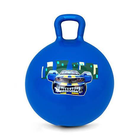 Мяч-прыгун детский с ручкой Spokey Speedster 45см (922740) детский фитбол, гимнастический мяч для фитнеса, фото 2