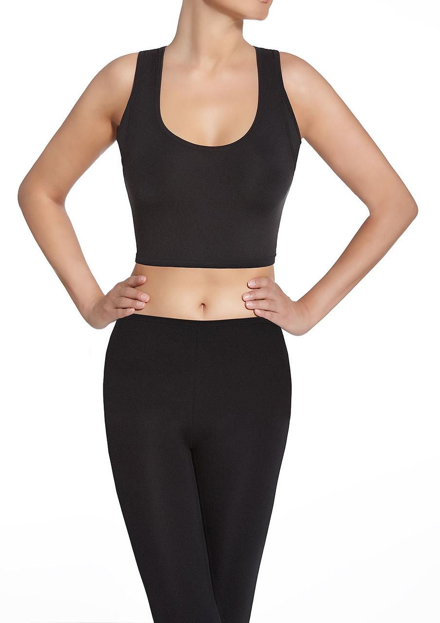 Спортивный женский топ BasBlack Teamtop 30 (original) короткий, майка для бега, фитнеса, спортзала