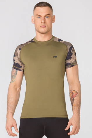 Компрессионная спортивная футболка Rough Radical Furious II SS (original), мужской рашгард с коротким рукавом, фото 2