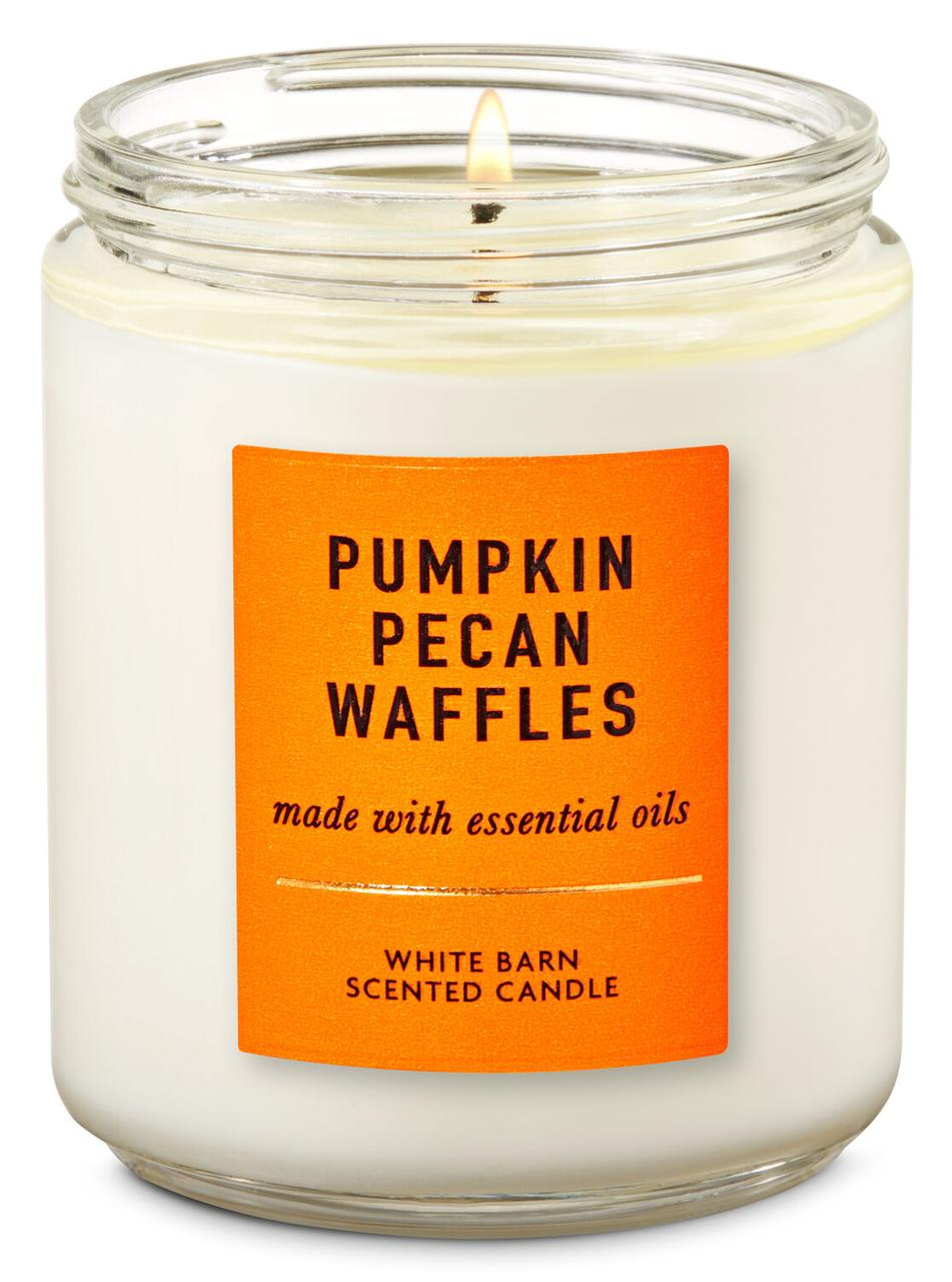 Свеча ароматизированная Bath and Body Works Pumpkin Pecan Waffles Scented Candle 198 г