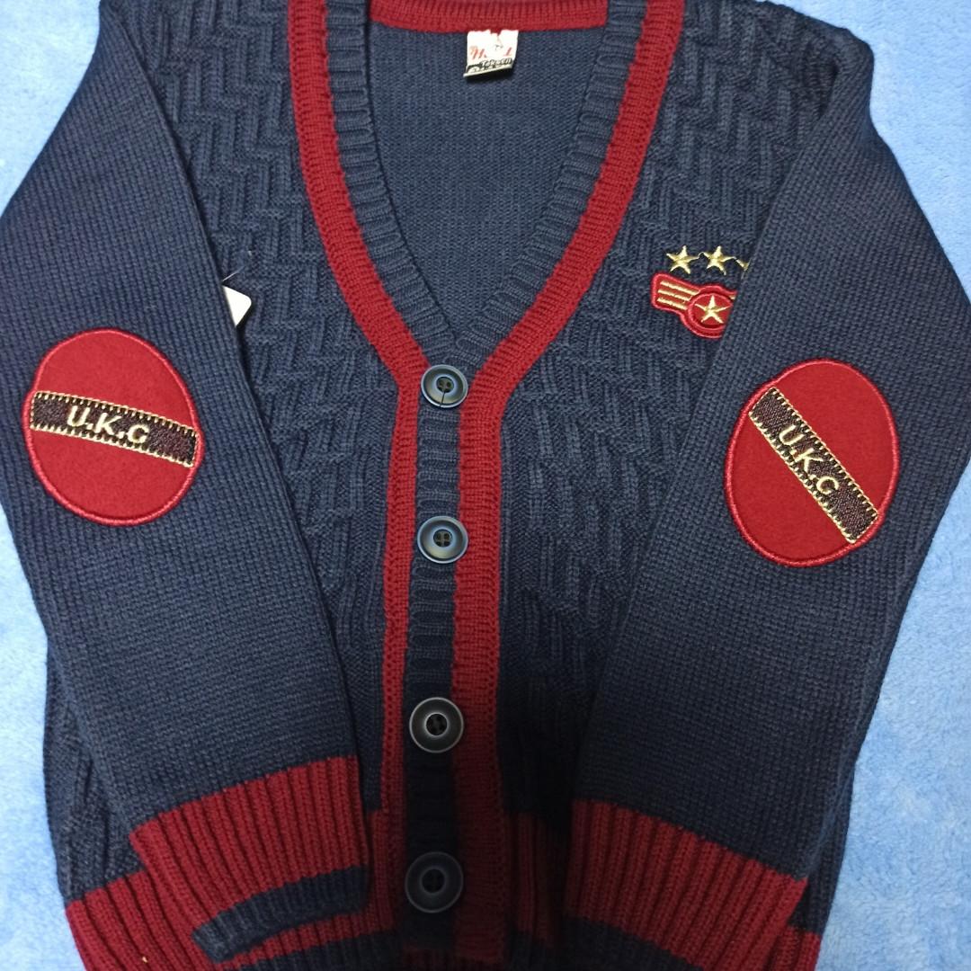 Кофта модная нарядная красивая теплая стильная синего цвета на пуговицах для мальчика.