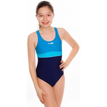 Купальник детский закрытый спортивный Aqua Speed Emily (original) цельный, сдельный, слитный для девочки, фото 2