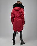 Парка женская теплая с трикотажа с капюшоном на меху. Турция, фото 4