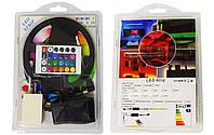 Цветная RGB 3528 LED лента 5м с пультом ДУ и блоком питания 300 светодидов класс защиты IP20, фото 1