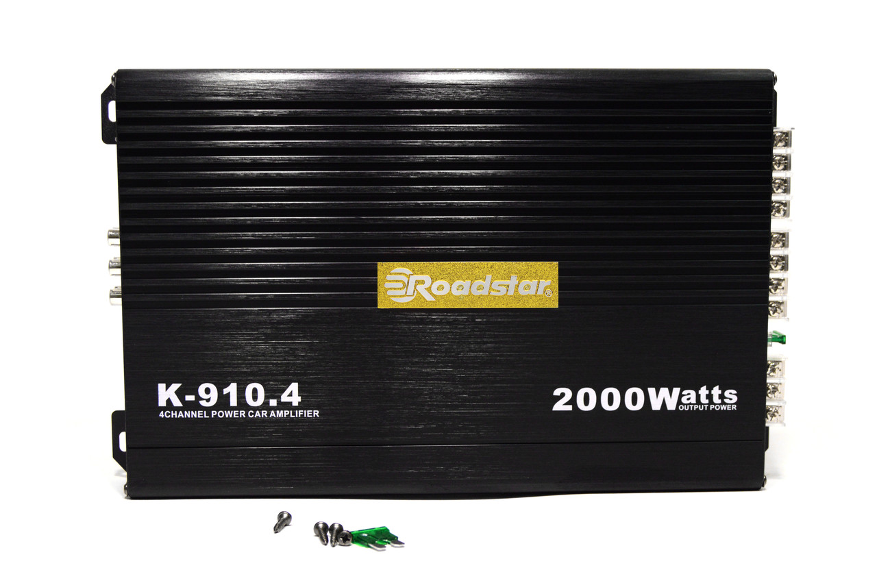 Автомобильный усилитель звука Roadstar K-910.4 2000W 4-х канальный