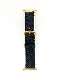 Ремешок для Apple Watch чёрного цвета из кожи Питона