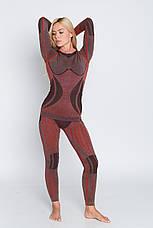Женская термокофта с шерстью альпаки HASTER ALPACA WOOL зональное бесшовное шерстяное термобелье, фото 2