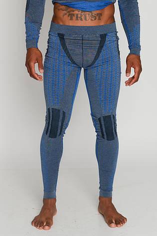 Мужские термоштаны с шерстью альпаки HASTER ALPACA WOOL зональное бесшовное шерстяное термобелье, фото 2