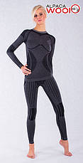 Комплект женского термобелья с шерстью альпаки HASTER ALPACA WOOL зональное бесшовное шерстяное, фото 3