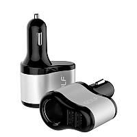 Автомобільний зарядний пристрій GOLF GF-C14 Car charger 2USB 2.1 A Black
