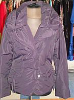 Куртка цвета баклажан  с затяжкой на талии Solar, фото 1