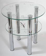 Стол из стекла с часами