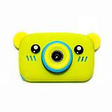 Детский цифровой фотоаппарат  Желтый Мишка Оригинал Children`s fun 20Мп Full HD 1080p (BYM), фото 2