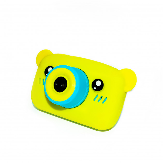 Детский цифровой фотоаппарат  Желтый Мишка Оригинал Children`s fun 20Мп Full HD 1080p (BYM)
