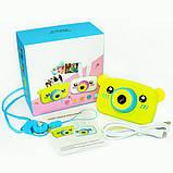 Детский цифровой фотоаппарат  Желтый Мишка Оригинал Children`s fun 20Мп Full HD 1080p (BYM), фото 4