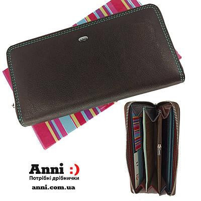 Кожаный женский кошелек  на молнии DR. BOND  WRS2
