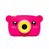 Детский цифровой фотоаппарат Розовый Мишка Children`s fun Original  20Мп Full HD 1080p (PPM), фото 4