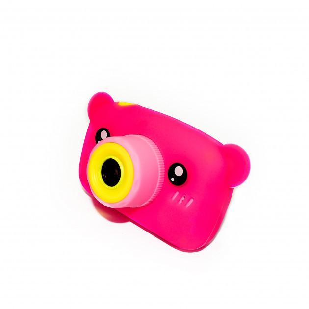 Детский цифровой фотоаппарат Розовый Мишка Children`s fun Original  20Мп Full HD 1080p (PPM)