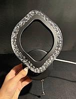 Современное светодиодное бра черное лепесток 12 ватт, фото 1