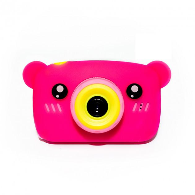 Детский цифровой фотоаппарат Розовый Мишка 2 Камеры Children`s fun Original  20Мп Full HD 1080p (PPM)