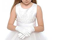 Перчатки детские белые эластик