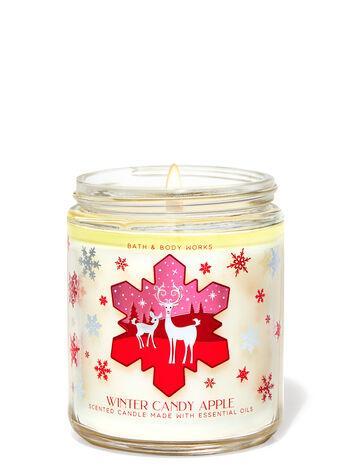 Свеча ароматизированная Bath and Body Works Winter Candy Apple Scented Candle 198 г
