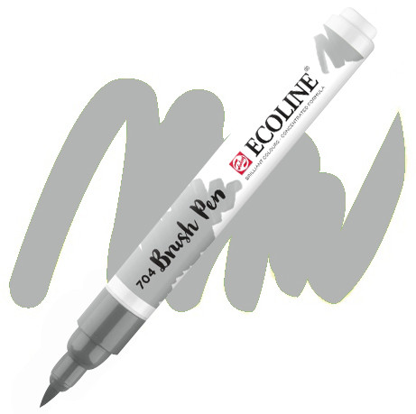 Ручка-кисточка Ecoline Brushpen (704), Серый, Royal Talens