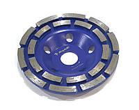 Алмазный шлифовальный диск (чашка) на УШМ 125х22,23мм Rapide DOUBLE ROW . Бетон, гранит, камень.
