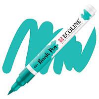 Ручка-пензлик Ecoline Brushpen (661), Бірюзова зелена, Royal Talens